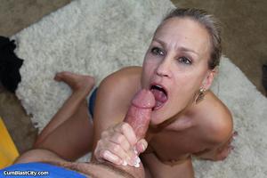 Curious cocksucker gets a pleasant cum blast surprise - XXXonXXX - Pic 11
