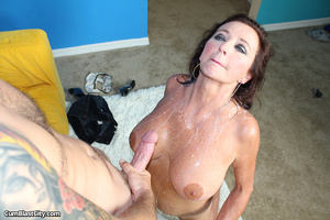 Sultry MILF slobbered with loads of dick juice - XXXonXXX - Pic 11