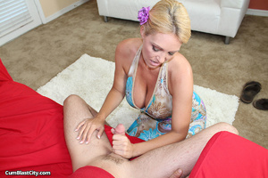 Big boobed MILF gives unforgettable hand job - XXXonXXX - Pic 7