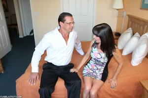 Perverted mom rewarded by massive cumshot from daughter's old boyfriend - XXXonXXX - Pic 1