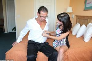 Perverted mom rewarded by massive cumshot from daughter's old boyfriend - XXXonXXX - Pic 2