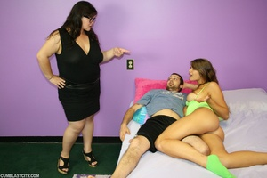 Bossy fat assed babe takes over releasing monster cum blast - Picture 7