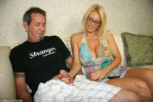 Sexy MILF wanks the repairman as payment gets cumbath as change - XXXonXXX - Pic 2