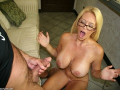 Sexy MILF wanks the repairman as payment gets - XXXonXXX - Pic 8