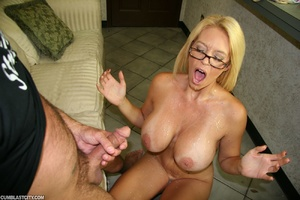 Sexy MILF wanks the repairman as payment gets cumbath as change - XXXonXXX - Pic 8