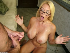 Sexy MILF wanks the repairman as payment gets - XXXonXXX - Pic 9