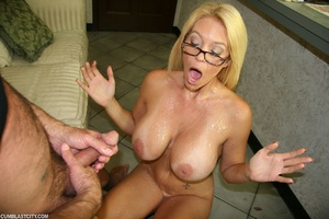 Sexy MILF wanks the repairman as payment gets cumbath as change - XXXonXXX - Pic 9