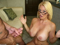 Sexy MILF wanks the repairman as payment gets - XXXonXXX - Pic 10