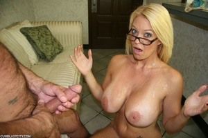 Sexy MILF wanks the repairman as payment gets cumbath as change - XXXonXXX - Pic 10