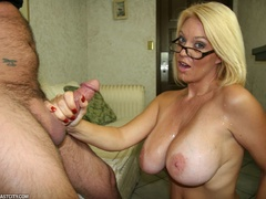 Sexy MILF wanks the repairman as payment gets - XXXonXXX - Pic 12