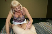 slutty granny amazed with