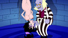 Horny cartoon guy Beetlejuice forced hanged beauty Lydia suck his hard