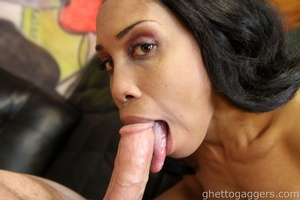 Nasty deep throat job for a long hard dick - XXXonXXX - Pic 3