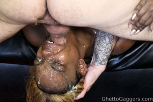 Blond-haired black for a nasty blowjob and hardcore sex - XXXonXXX - Pic 6