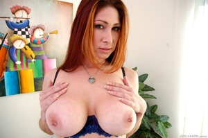 Sexy redhead with nice tits fondles cunt - XXX Dessert - Picture 9