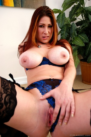 Sexy redhead with nice tits fondles cunt - XXX Dessert - Picture 15