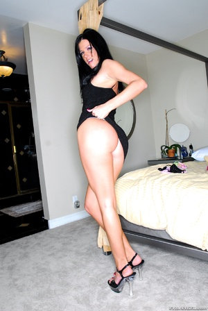 Dark haired vixen in black dress changes - XXX Dessert - Picture 4