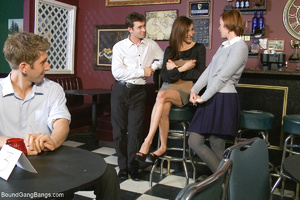 Red-headed chick in ripped purple pantyh - XXX Dessert - Picture 2