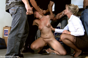 Two blonde office sluts bound and banged - XXX Dessert - Picture 4