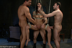 Three kinky guys seized latina chick for - XXX Dessert - Picture 3