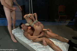 Three kinky guys seized latina chick for - XXX Dessert - Picture 6