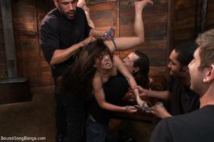 Horny dude torturing long-haired brunett - XXX Dessert - Picture 3