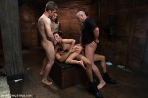 Horny dude torturing long-haired brunett - XXX Dessert - Picture 8