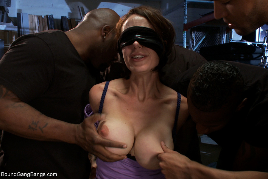 Blindfolded and tricked interracial