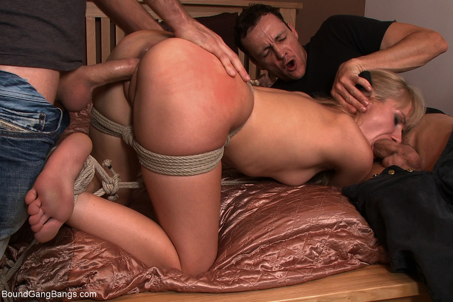 Bound Blindfolded And Fucked