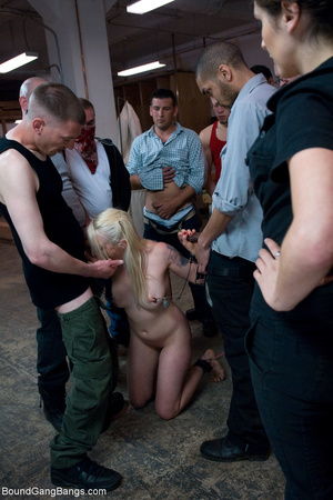 Blonde bound chick spanked violently and - XXX Dessert - Picture 5