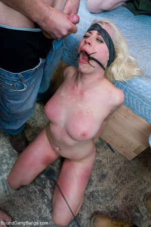 Blonde bound chick spanked violently and - XXX Dessert - Picture 10