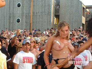 Hit the beach with our camera crew for this insane spring break party where clothing is optional! - XXXonXXX - Pic 15