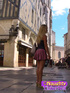 Hot blonde look sweet in sexy short dress raises…