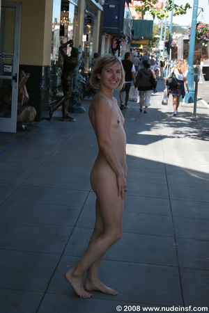 Cute nude girls with stunning figures walking nude and mixing with public - XXXonXXX - Pic 3