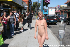 Cute nude girls with stunning figures walking nude and mixing with public - XXXonXXX - Pic 5