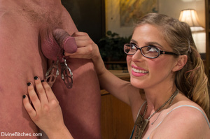 Hot cute young teacher enjoys dominating - XXX Dessert - Picture 13