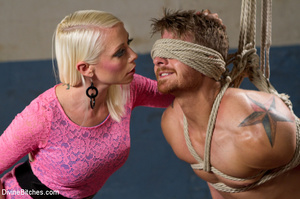 Pink dress blond female loved playing ha - XXX Dessert - Picture 2