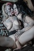Even zombies need fun as costumed zombie girls and…