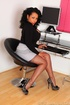 Danica as hot horny secretary in her pantyhose and…