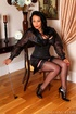 Seductress danica rubbing the leather whip on her…