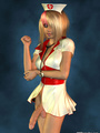 Sexy blond 3D shemale as a nurse - Picture 4