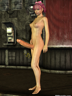 Stark-naked 3D shemale with monster cock - Cartoon Porn Pictures - Picture 8