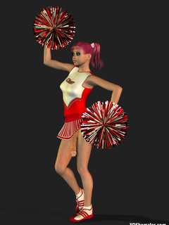Sexy 3D cheerleader shemale dancing in dress - Cartoon Porn Pictures - Picture 5