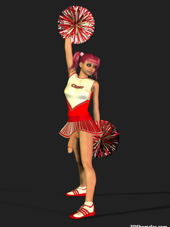 Sexy 3D cheerleader shemale dancing in dress - Cartoon Porn Pictures - Picture 6