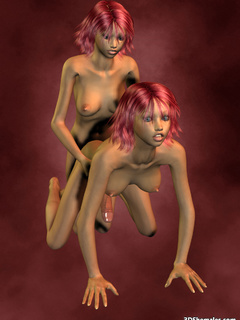 Two nude 3D shemale suck and fuck each other - Cartoon Porn Pictures - Picture 4