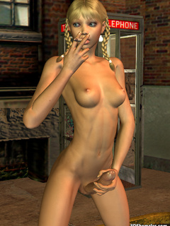 Seductive stark-naked 3D shemale smoking - Cartoon Porn Pictures - Picture 4