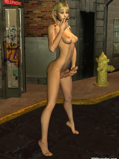 Seductive stark-naked 3D shemale smoking - Cartoon Porn Pictures - Picture 5