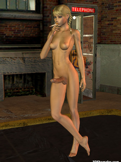 Seductive stark-naked 3D shemale smoking - Cartoon Porn Pictures - Picture 7