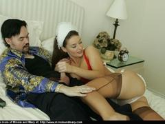 Brunnette girl enjoys girlfriend's - Sexy Women in Lingerie - Picture 9