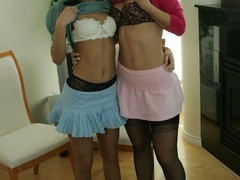 Topless twins play naughty game - Sexy Women in Lingerie - Picture 6